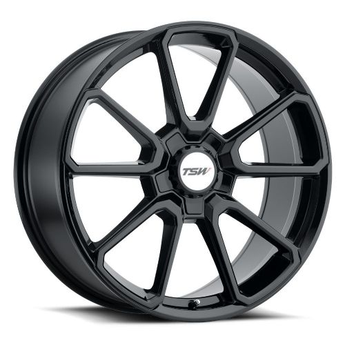 TSW SONOMA GLOSS BLACK  (BLACK HEX NUT)